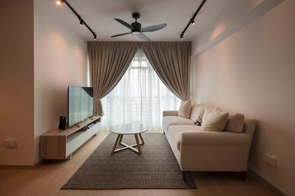 Scandinavian, HDB, Living Room, Punggol Plains, Interior Designer, Aart Boxx Interior, Indoors, Room, Couch, Furniture, Interior Design