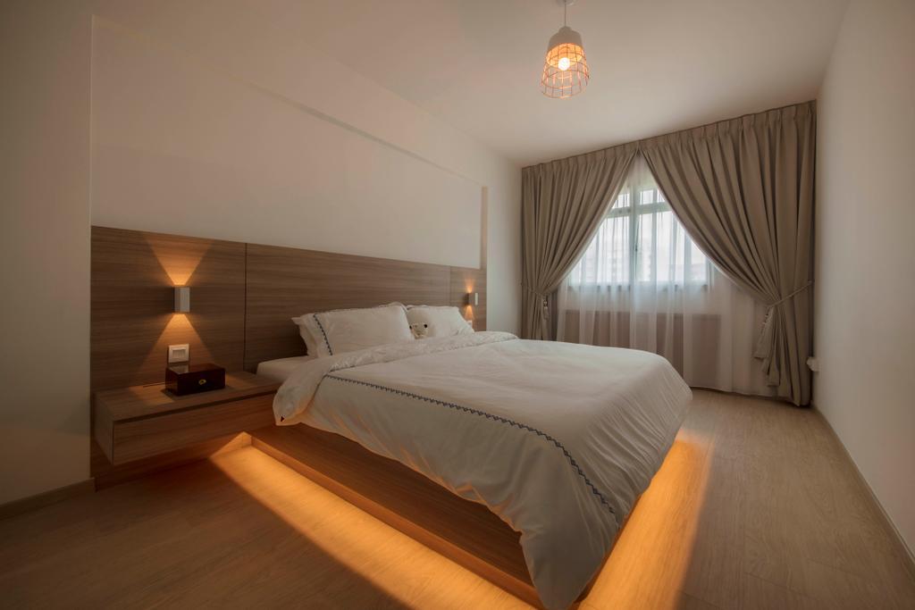 Scandinavian, HDB, Bedroom, Punggol Plains, Interior Designer, Aart Boxx Interior, Indoors, Interior Design, Room