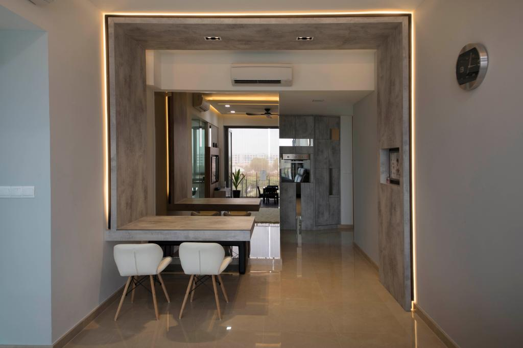 Modern, Condo, Dining Room, The Glades, Interior Designer, Aart Boxx Interior, Chair, Furniture, Dining Table, Table, Flooring, Floor