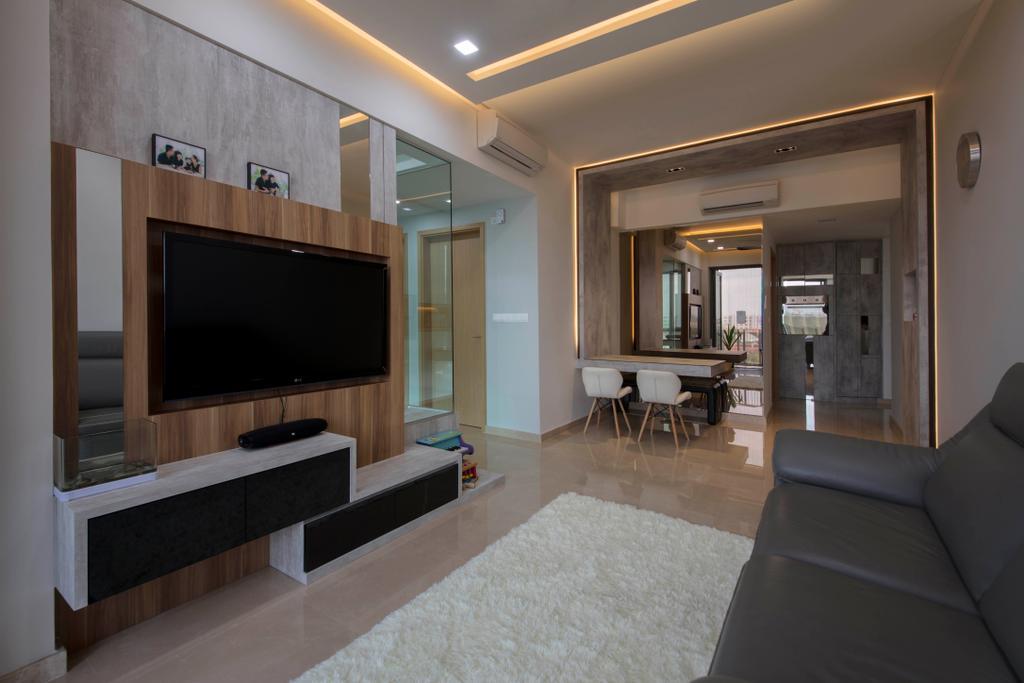 Modern, Condo, Living Room, The Glades, Interior Designer, Aart Boxx Interior, Couch, Furniture, Indoors, Interior Design