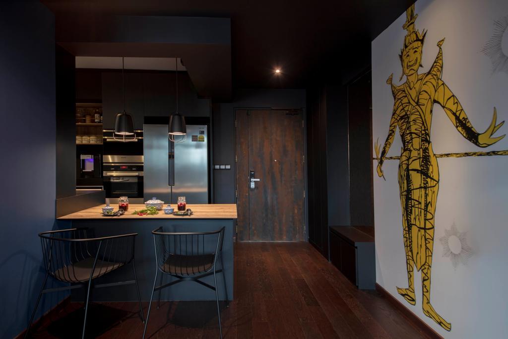 Eclectic, HDB, Dining Room, Chai Chee, Interior Designer, Aart Boxx Interior, Chair, Furniture, Flooring, Indoors, Interior Design, Room