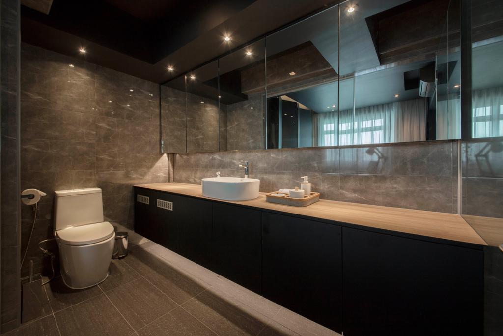 Eclectic, HDB, Chai Chee, Interior Designer, Aart Boxx Interior, Toilet, Lighting