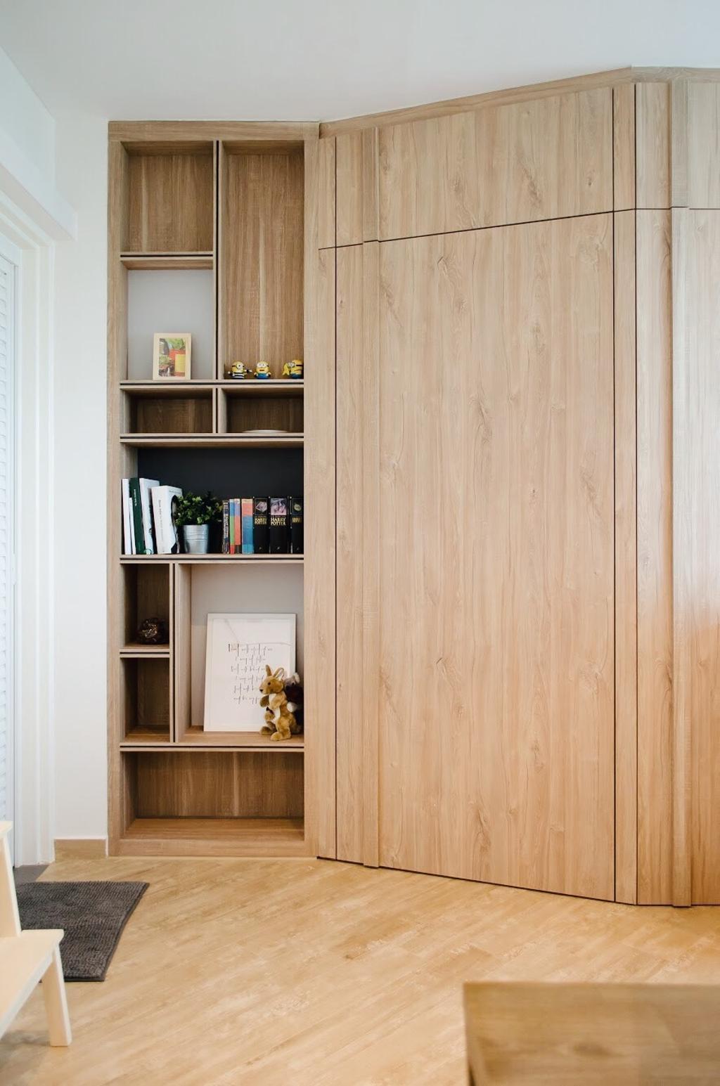 Scandinavian, HDB, Ang Mo Kio Street 44, Interior Designer, Authors • Interior & Styling, Bookcase, Furniture