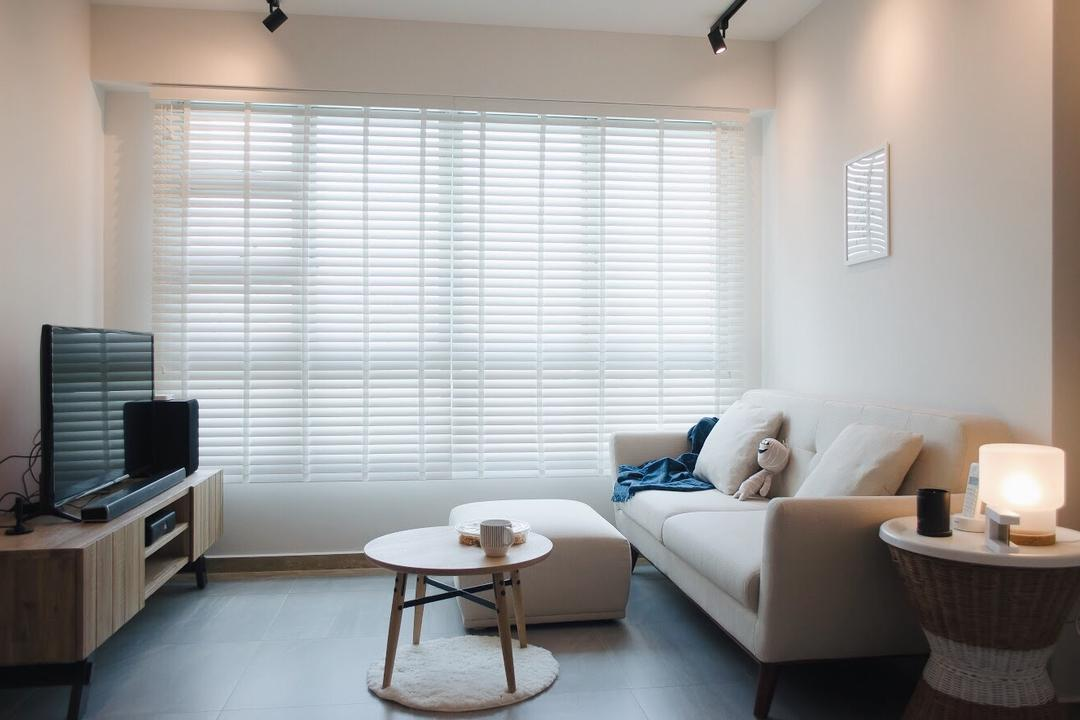 Ang Mo Kio Street 44, Authors • Interior & Styling, Scandinavian, Living Room, HDB, Couch, Furniture, Home Decor, Linen, Tablecloth, Coffee Table, Table, Indoors, Interior Design, Room