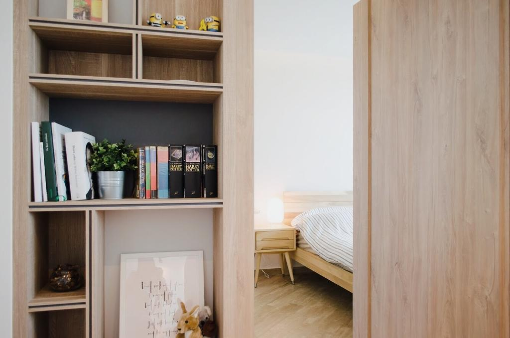 Scandinavian, HDB, Ang Mo Kio Street 44, Interior Designer, Authors • Interior & Styling, Flora, Jar, Plant, Potted Plant, Pottery, Vase, Bookcase, Furniture