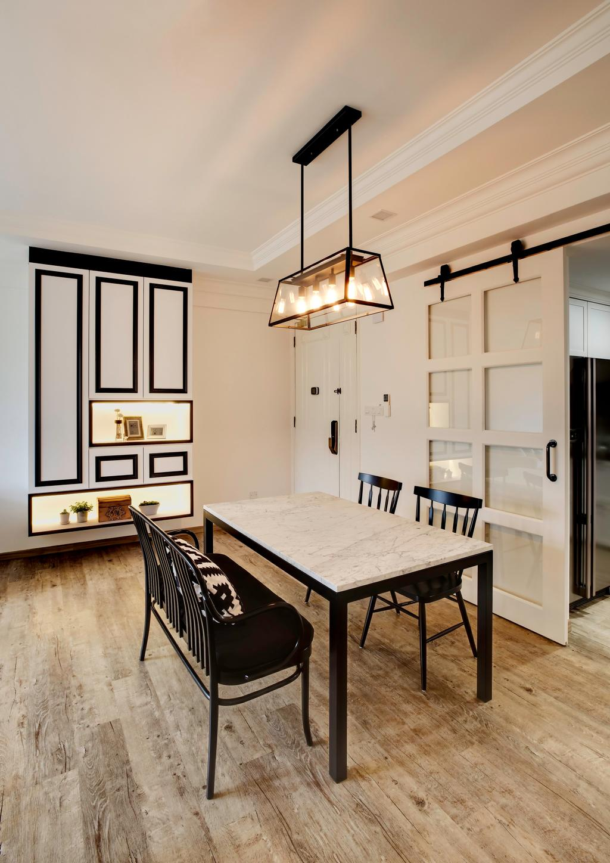 Contemporary, Condo, Dining Room, Laguna Green, Interior Designer, The Orange Cube, Light Fixture, Indoors, Interior Design, Room, Dining Table, Furniture, Table, Chair