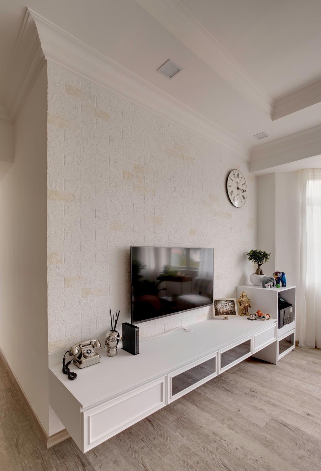 Contemporary, Condo, Living Room, Laguna Green, Interior Designer, The Orange Cube, Flora, Jar, Plant, Potted Plant, Pottery, Vase