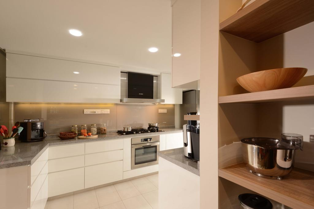 Traditional, Condo, Kitchen, Mandarin Gardens, Interior Designer, The Orange Cube, White, Laminate, Hood, Oven, Cabinets, Drawers, Indoors, Interior Design, Room