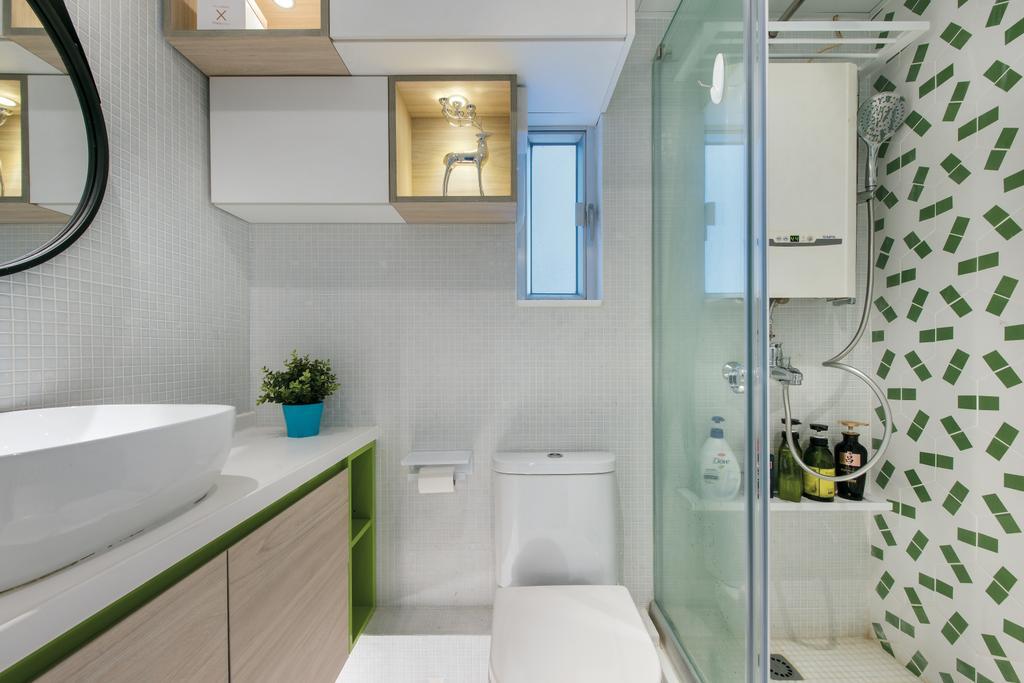 摩登, 公屋/居屋, 東駿苑, 室內設計師, Space Design, 北歐, 浴室, Indoors, Interior Design, Room