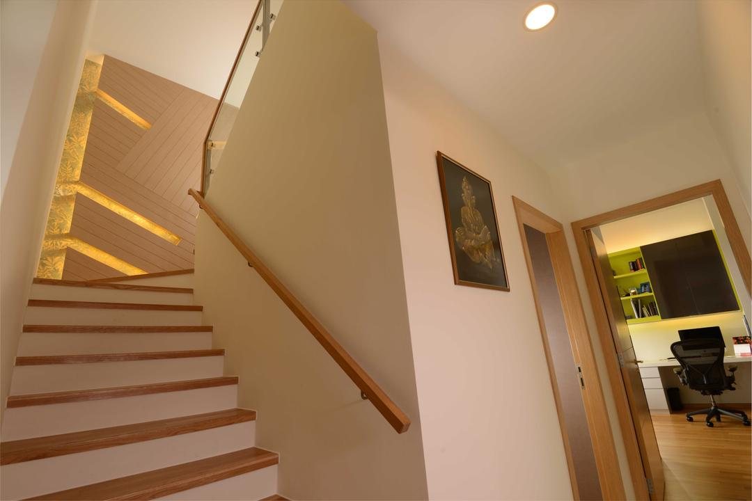 Vacanza@East, The Orange Cube, Contemporary, Condo, Stairs, Stairways, Study Room, Down Lights