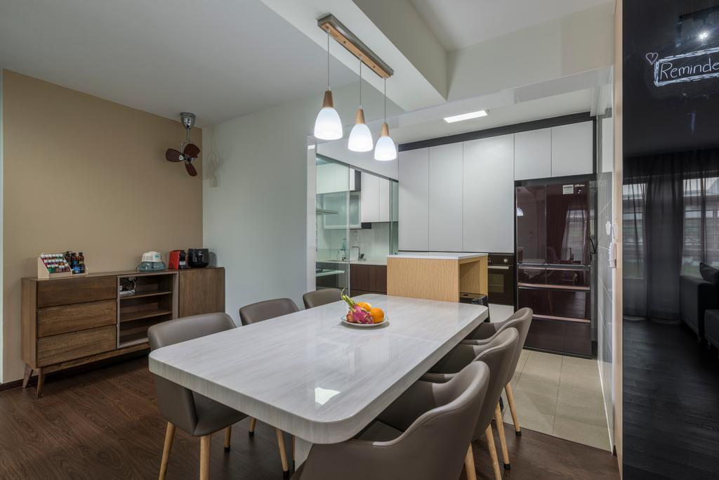 Contemporary, HDB, Dining Room, Canberra Street, Interior Designer, DS 2000 Interior & Design, Dining Table, Furniture, Table, Indoors, Interior Design, Room