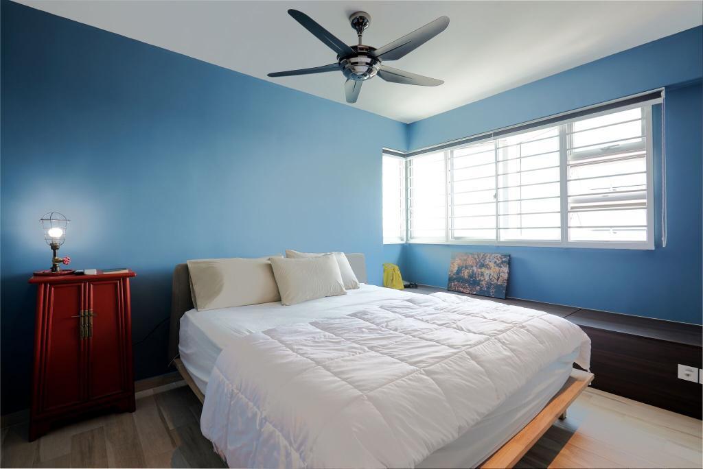 Contemporary, HDB, Bedroom, Ang Mo Kio Street 44, Interior Designer, Charlotte's Carpentry, Indoors, Interior Design, Room, Bed, Furniture