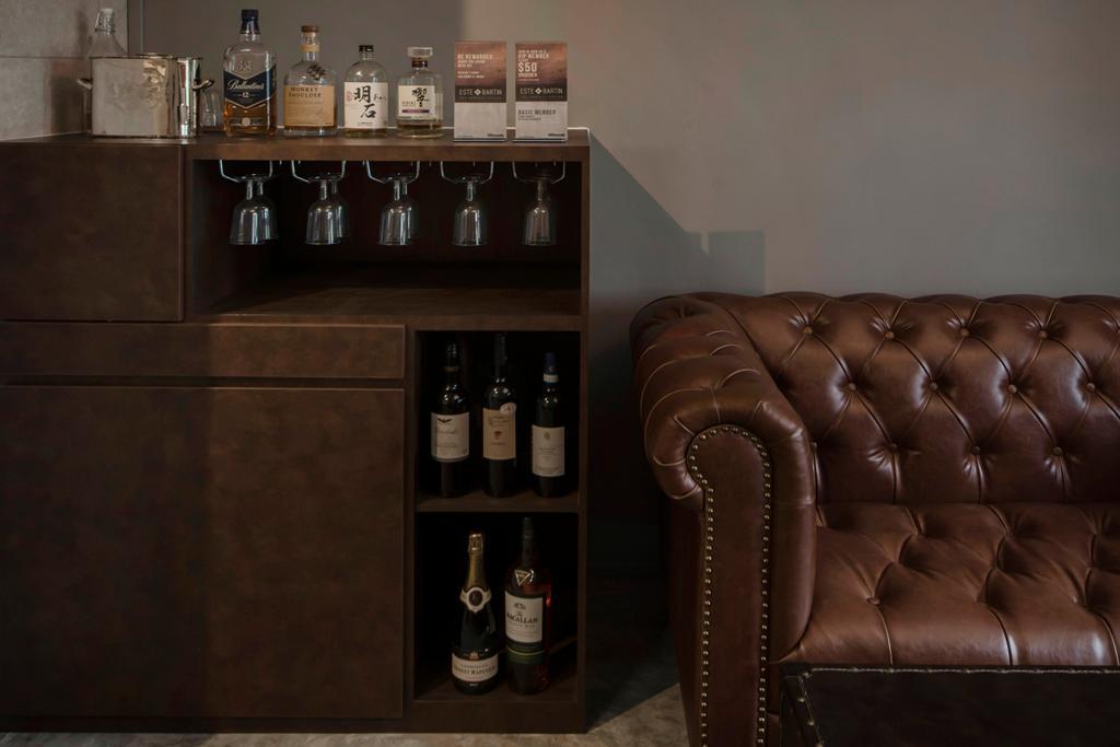 66 Circular Road, Commercial, Interior Designer, Cozy Ideas Interior Design, Industrial, Vintage, Couch, Furniture, Alcohol, Beverage, Drink, Liquor, Chair