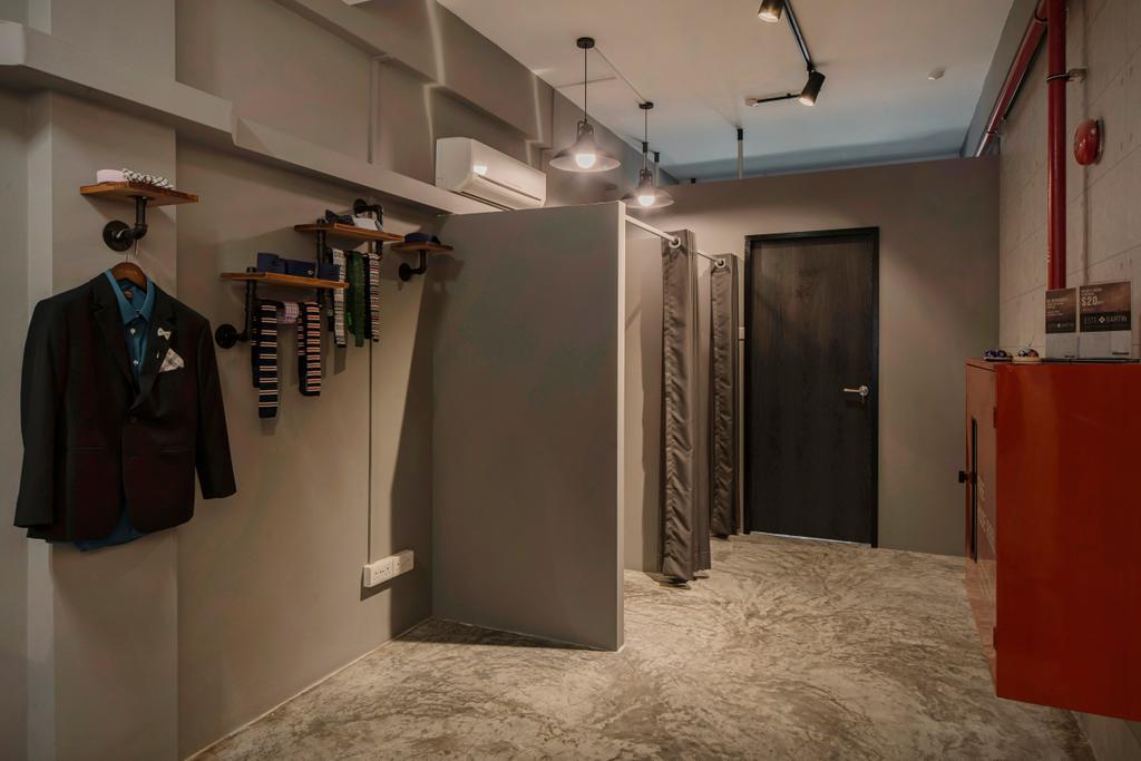 66 Circular Road, Commercial, Interior Designer, Cozy Ideas Interior Design, Industrial, Vintage, Clothing, Coat, Overcoat, Suit, Basement, Indoors, Room