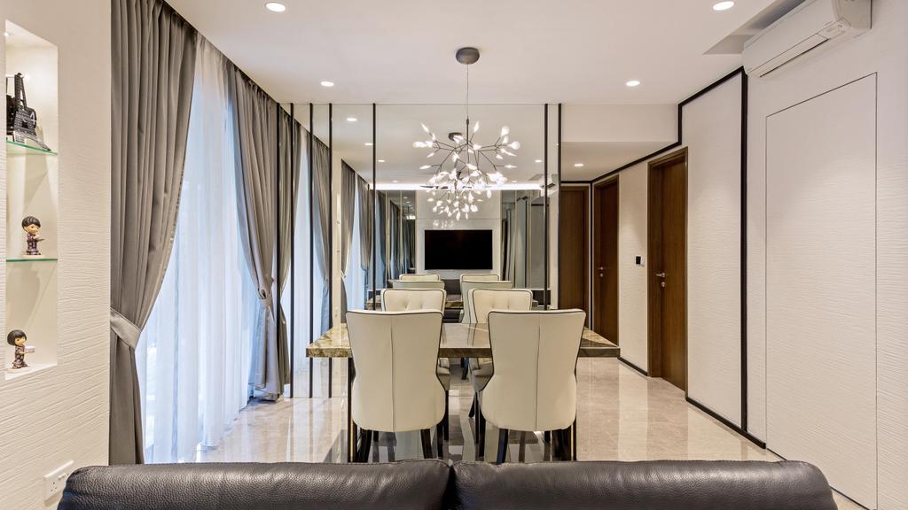 Modern, Condo, Dining Room, River Isles, Interior Designer, Summerhaus D'zign, Chair, Furniture, Indoors, Room, Interior Design