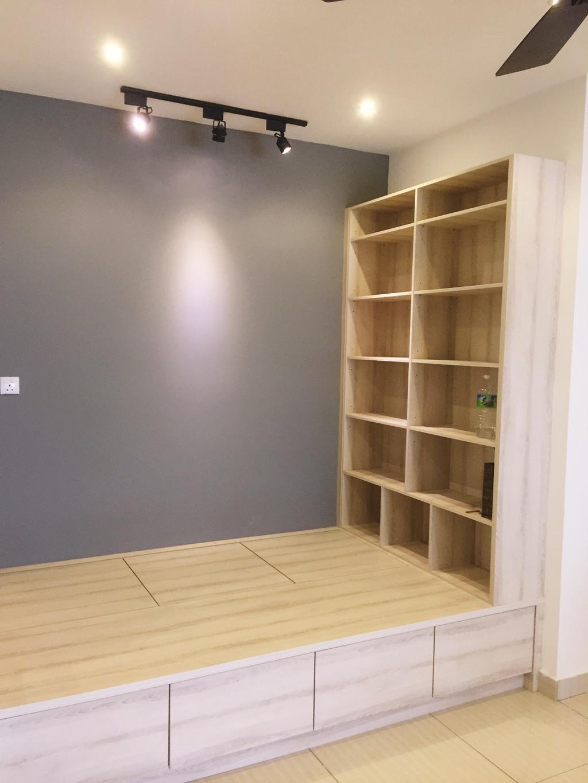 Modern, Condo, Damansara Foresta, PJ, Interior Designer, DesignLah, Minimalistic, Bookcase, Furniture