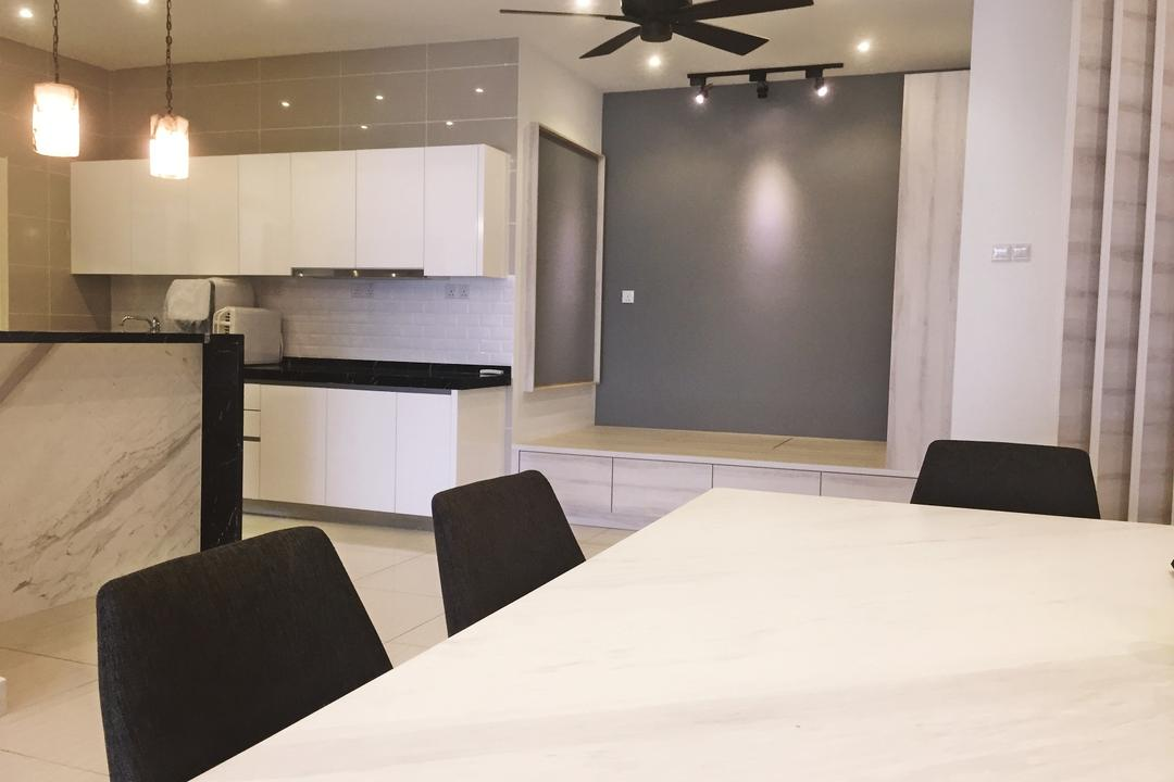 Damansara Foresta, PJ, DesignLah, Modern, Minimalistic, Condo, Conference Room, Indoors, Meeting Room, Room, Chair, Furniture, Dining Table, Table, Couch