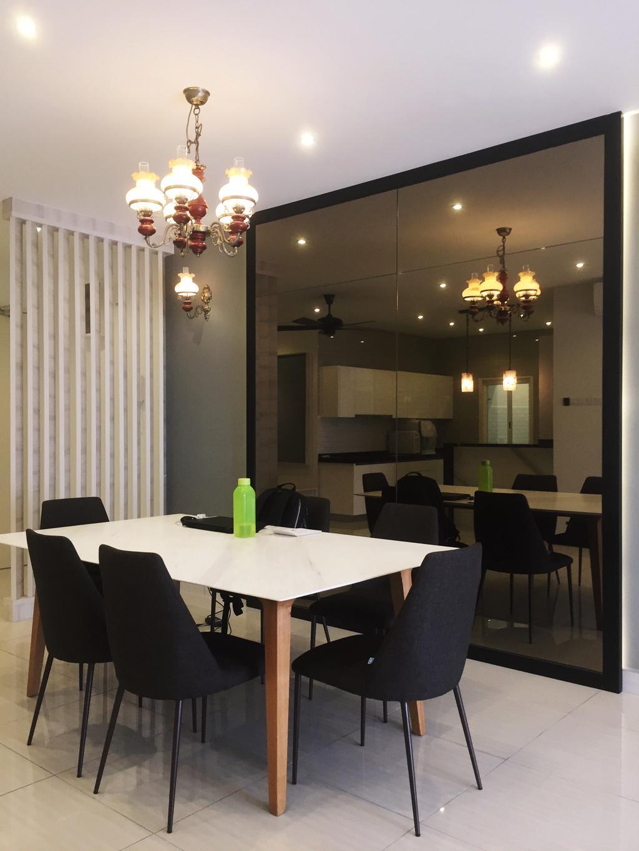Modern, Condo, Damansara Foresta, PJ, Interior Designer, DesignLah, Minimalistic, Couch, Furniture, Dining Room, Indoors, Interior Design, Room, Dining Table, Table
