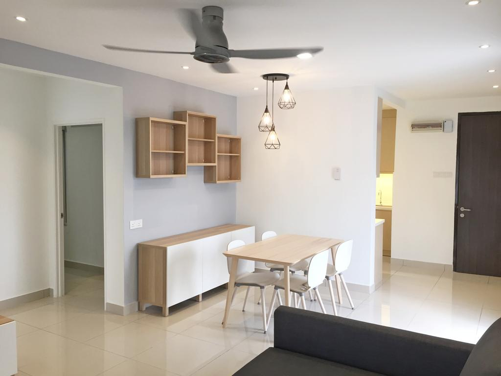 Contemporary, Condo, Maisson, Ara Damansara, Interior Designer, DesignLah, Dining Table, Furniture, Table, Sideboard, Chair, Dining Room, Indoors, Interior Design, Room