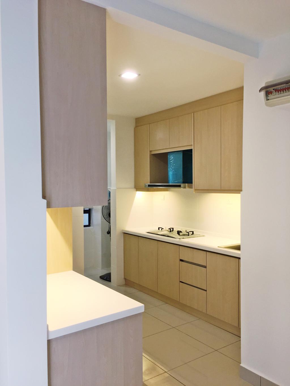Contemporary, Condo, Maisson, Ara Damansara, Interior Designer, DesignLah, Indoors, Interior Design, Kitchen, Room
