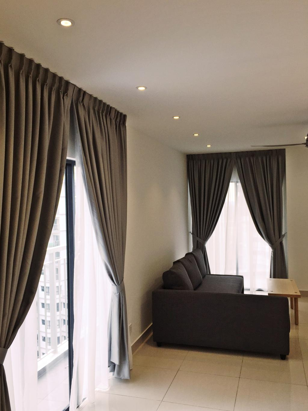 Contemporary, Condo, Maisson, Ara Damansara, Interior Designer, DesignLah, Curtain, Home Decor, Chair, Furniture