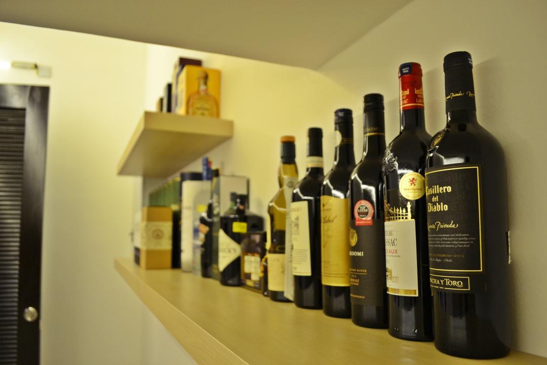 Setia Duta Villa, Shah Alam, DesignLah, Scandinavian, Contemporary, Landed, Alcohol, Beverage, Drink, Liquor, Bottle
