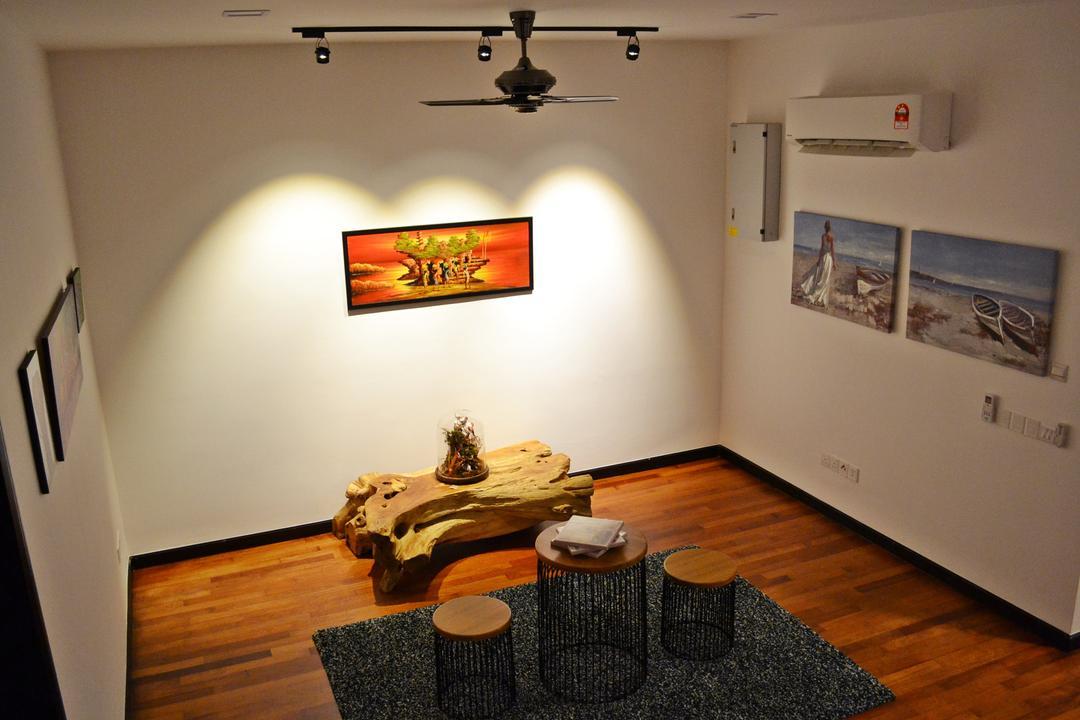 Setia Duta Villa, Shah Alam, DesignLah, Scandinavian, Contemporary, Landed, Dining Room, Indoors, Interior Design, Room, Art, Modern Art