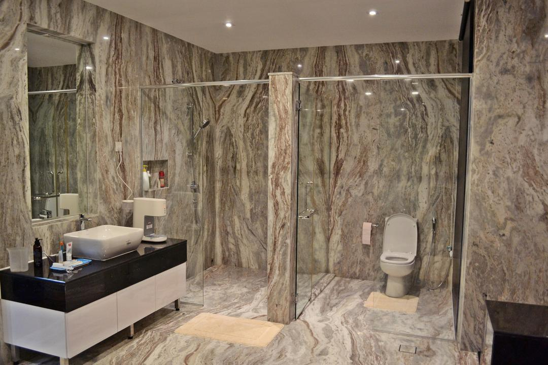 Setia Duta Villa, Shah Alam, DesignLah, Scandinavian, Contemporary, Landed, Bathroom, Indoors, Interior Design, Room, Plywood, Wood