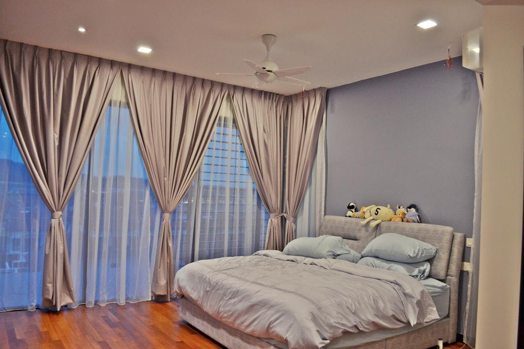 Setia Duta Villa, Shah Alam, DesignLah, Scandinavian, Contemporary, Landed, Bedroom, Indoors, Interior Design, Room, Asleep, Bed, Furniture