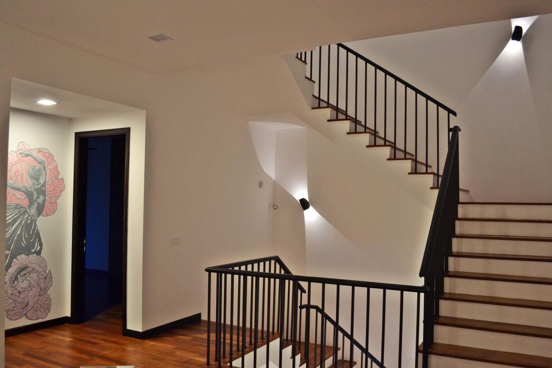 Setia Duta Villa, Shah Alam, DesignLah, Scandinavian, Contemporary, Landed, Banister, Handrail, Staircase, Art