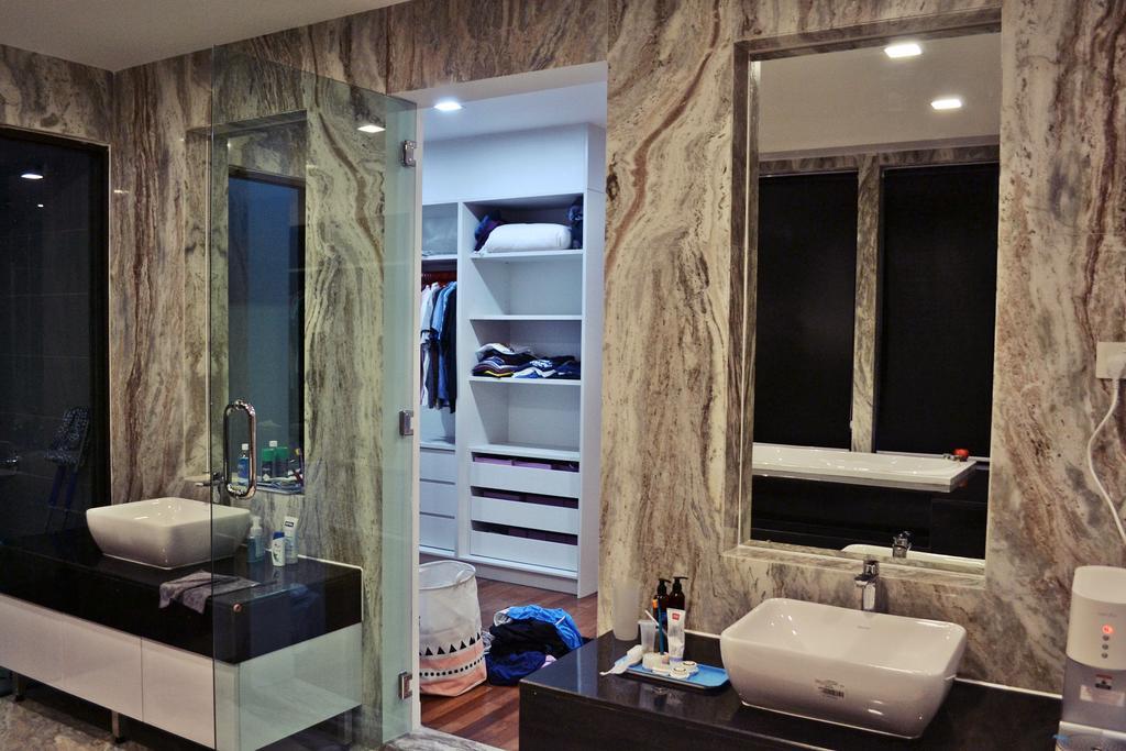 Scandinavian, Landed, Setia Duta Villa, Shah Alam, Interior Designer, DesignLah, Contemporary, Bathroom, Indoors, Interior Design, Room, Sink, Closet, Furniture, Wardrobe