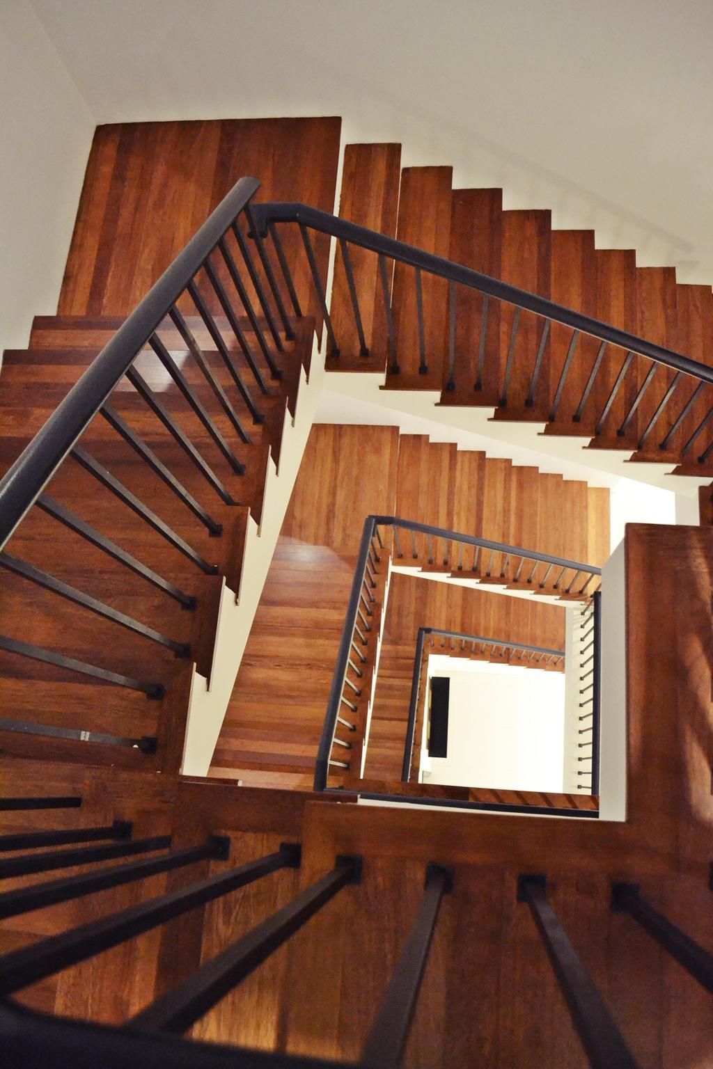 Scandinavian, Landed, Setia Duta Villa, Shah Alam, Interior Designer, DesignLah, Contemporary, Banister, Handrail, Staircase