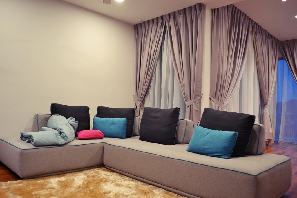 Scandinavian, Landed, Setia Duta Villa, Shah Alam, Interior Designer, DesignLah, Contemporary, Curtain, Home Decor, Couch, Furniture, Cushion
