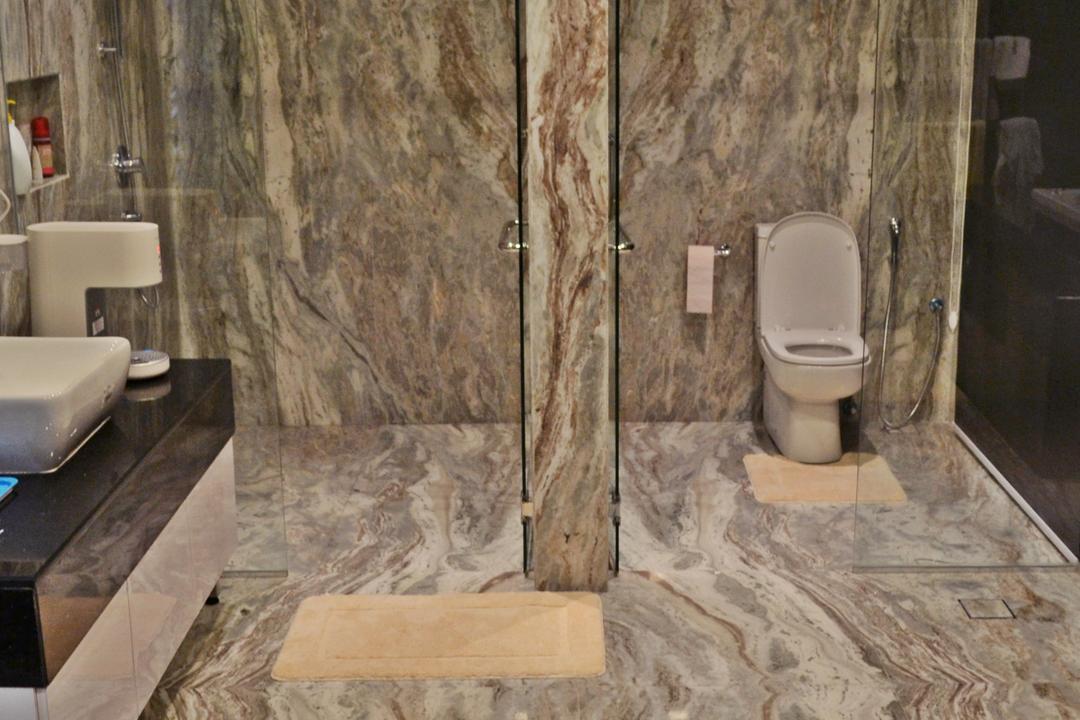 Setia Duta Villa, Shah Alam, DesignLah, Scandinavian, Contemporary, Landed, Toilet, Sink