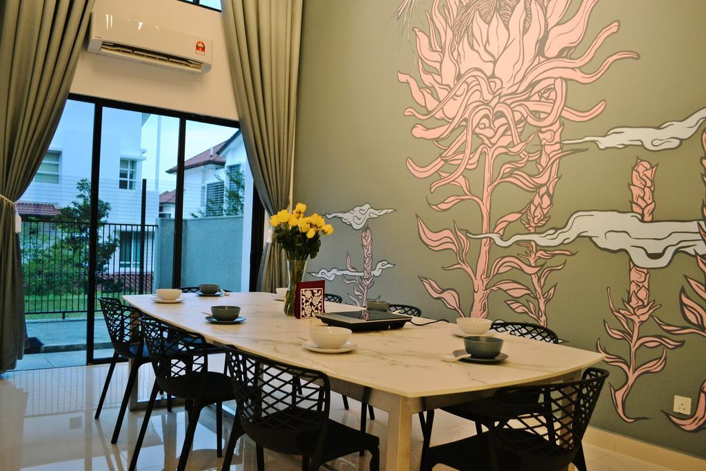 Scandinavian, Landed, Setia Duta Villa, Shah Alam, Interior Designer, DesignLah, Contemporary, Dining Table, Furniture, Table, Dining Room, Indoors, Interior Design, Room, Chair, Restaurant, Balcony