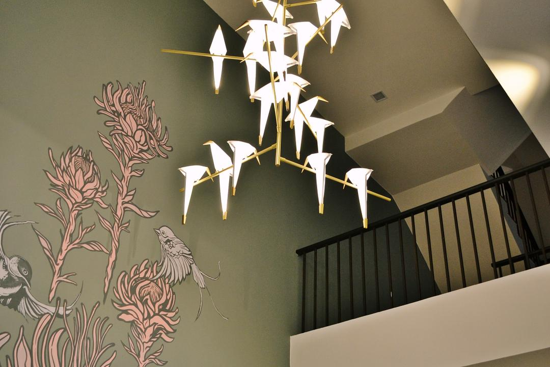 Setia Duta Villa, Shah Alam, DesignLah, Scandinavian, Contemporary, Landed, Banister, Handrail, Staircase