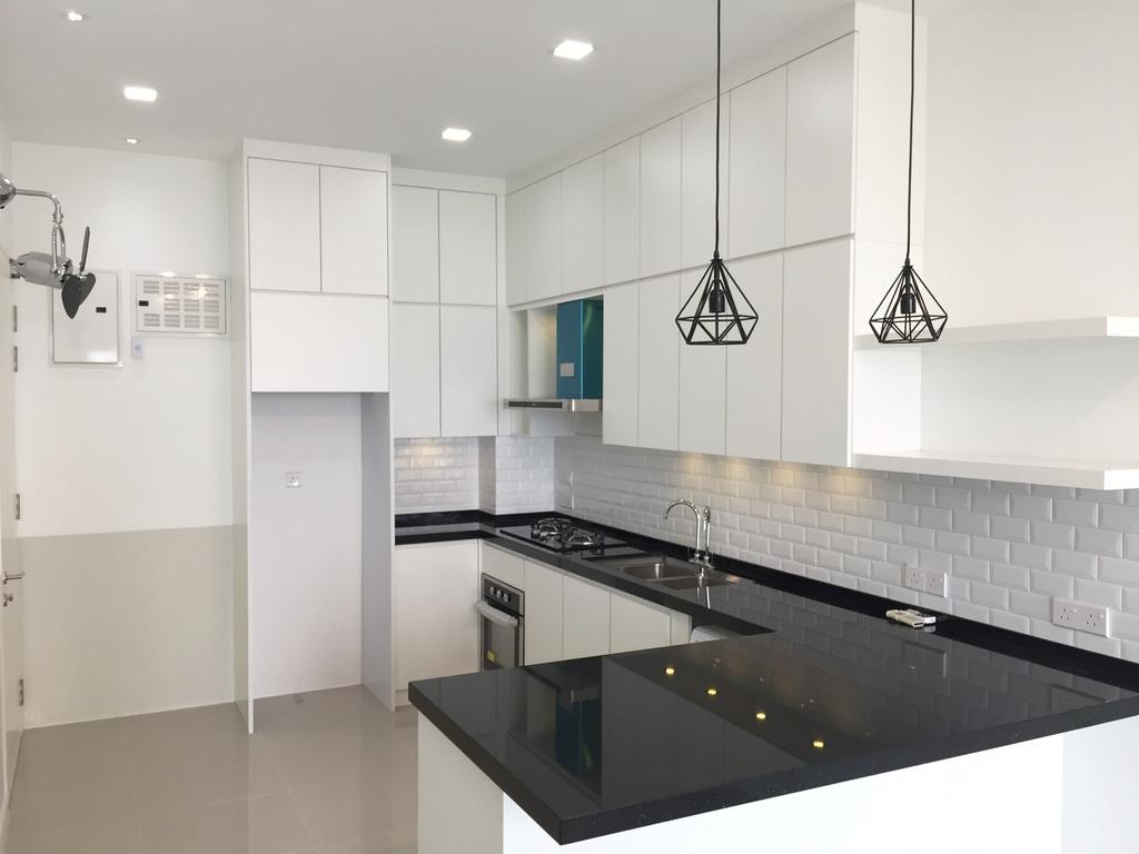 Minimalistic, Condo, Kitchen, Desa Green, KL, Interior Designer, DesignLah, Indoors, Interior Design, Room