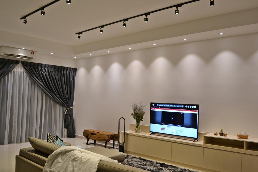 Setia Duta Villa, Shah Alam, DesignLah, Scandinavian, Contemporary, Landed, Electronics, Entertainment Center, Home Theater