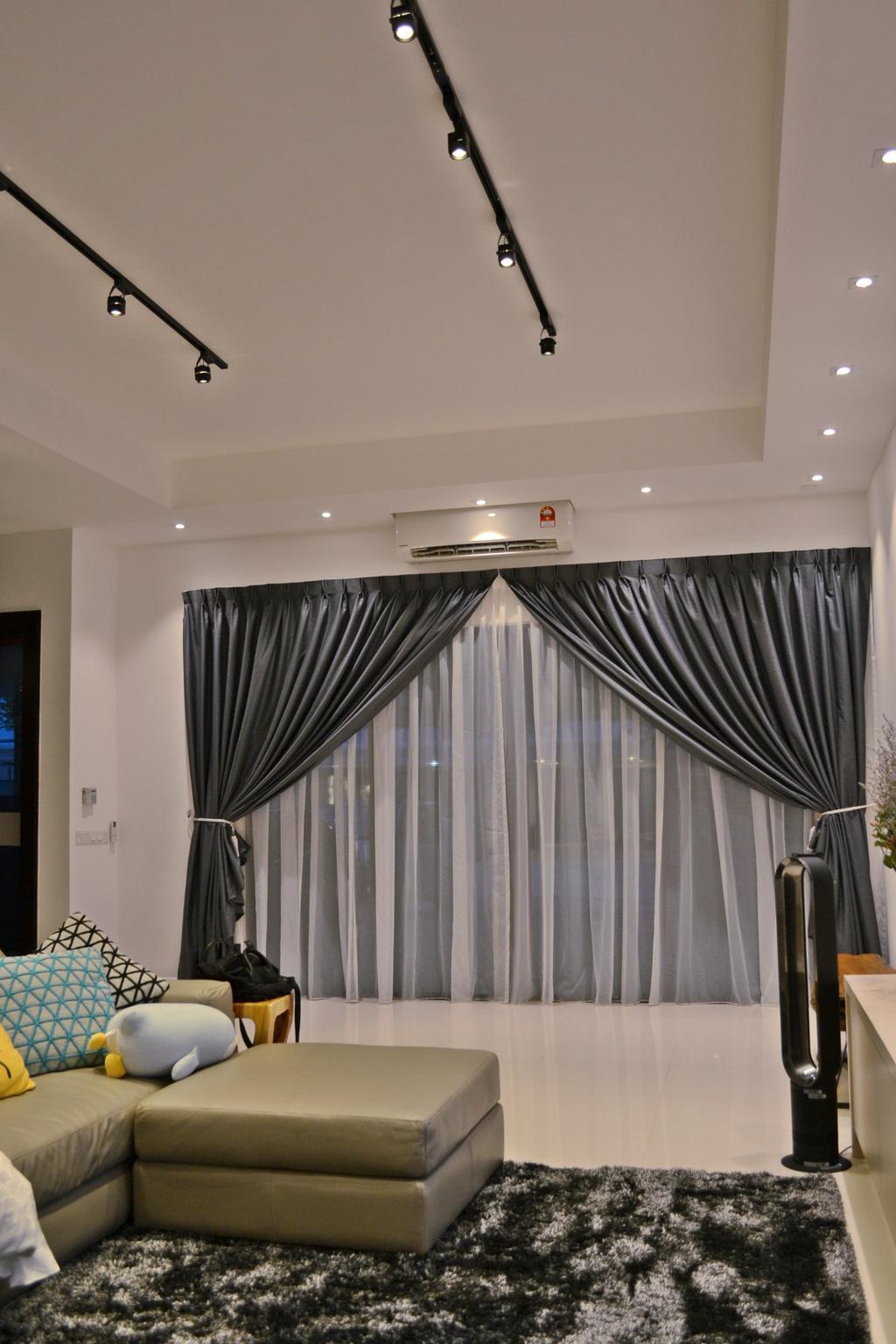 Scandinavian, Landed, Setia Duta Villa, Shah Alam, Interior Designer, DesignLah, Contemporary, Curtain, Home Decor, Bedroom, Indoors, Interior Design, Room