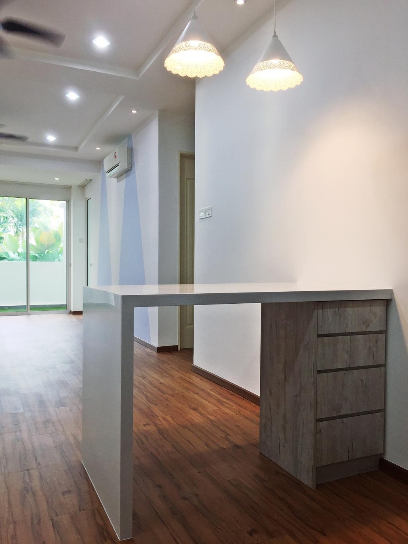 Transitional, Condo, Parkhomes, Subang, Interior Designer, DesignLah, Minimalistic, Flooring, Furniture, Sideboard, Door, Sliding Door, Hardwood, Wood