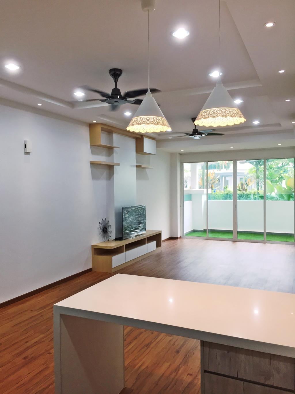 Transitional, Condo, Parkhomes, Subang, Interior Designer, DesignLah, Minimalistic, Blackboard, Window, Indoors, Interior Design, Lamp, Lampshade