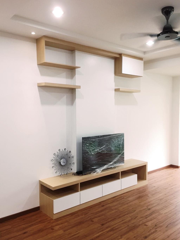 Transitional, Condo, Parkhomes, Subang, Interior Designer, DesignLah, Minimalistic, Shelf, Clock, Wall Clock, Coffee Table, Furniture, Table, Blackboard