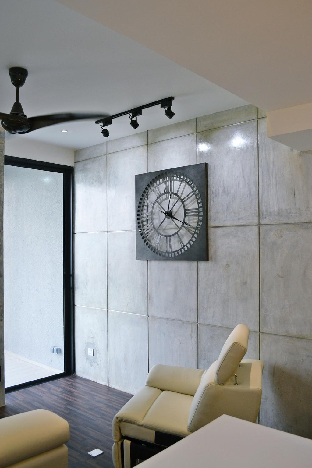 Contemporary, Condo, Twin Arks, Bukit Jalil, Interior Designer, DesignLah, Tile, Clock