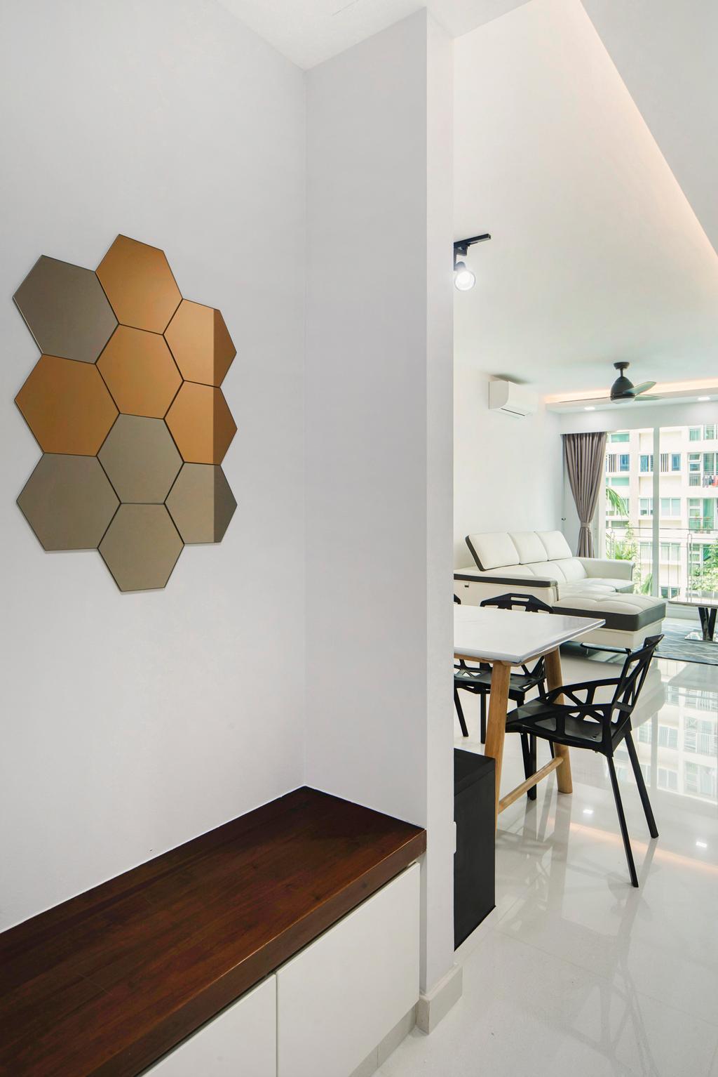 Minimalist, Condo, The Esparis, Interior Designer, Cozy Ideas Interior Design, Chair, Furniture, Paper, Dining Table, Table, Indoors, Room, Interior Design, Dining Room