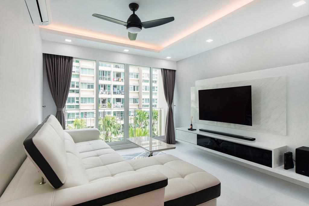 Minimalistic, Condo, Living Room, The Esparis, Interior Designer, Cozy Ideas Interior Design, Couch, Furniture, Indoors, Room