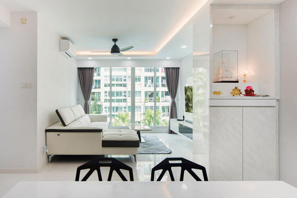Minimalistic, Condo, Living Room, The Esparis, Interior Designer, Cozy Ideas Interior Design, Dining Room, Indoors, Interior Design, Room, Furniture, Chair