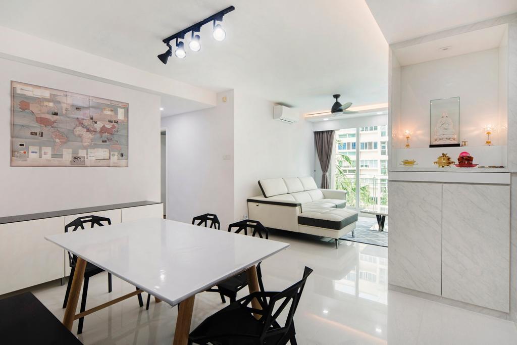 Minimalistic, Condo, Dining Room, The Esparis, Interior Designer, Cozy Ideas Interior Design, Chair, Furniture, Indoors, Interior Design, Room, Dining Table, Table