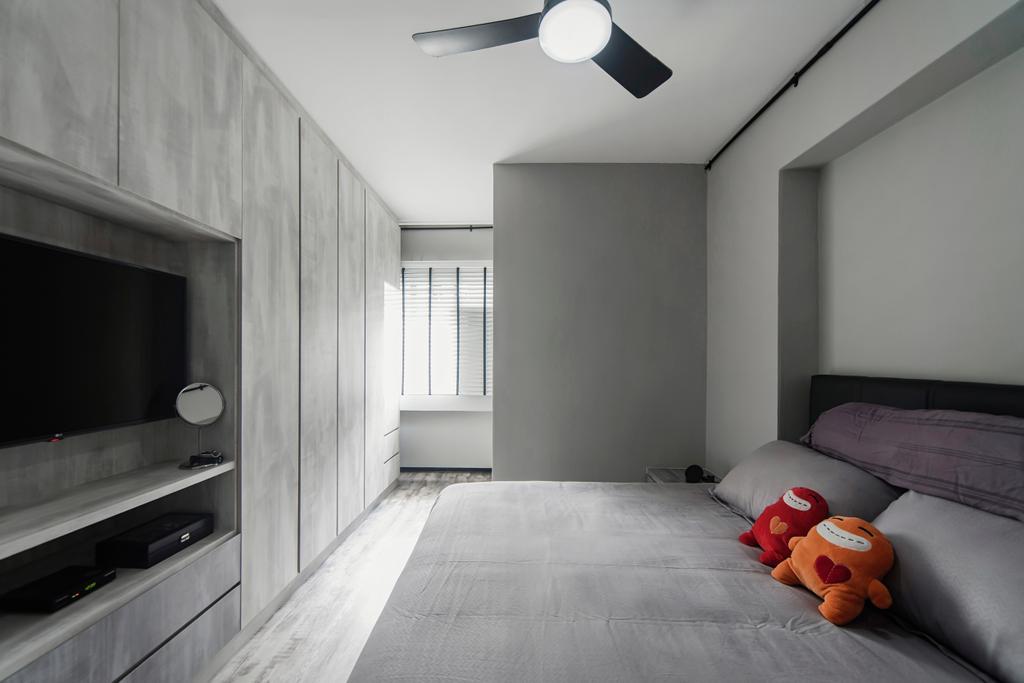 Minimalistic, HDB, Bedroom, Jalan Tenaga, Interior Designer, Cozy Ideas Interior Design, Couch, Furniture, Indoors, Interior Design, Room, Building, Housing, Loft