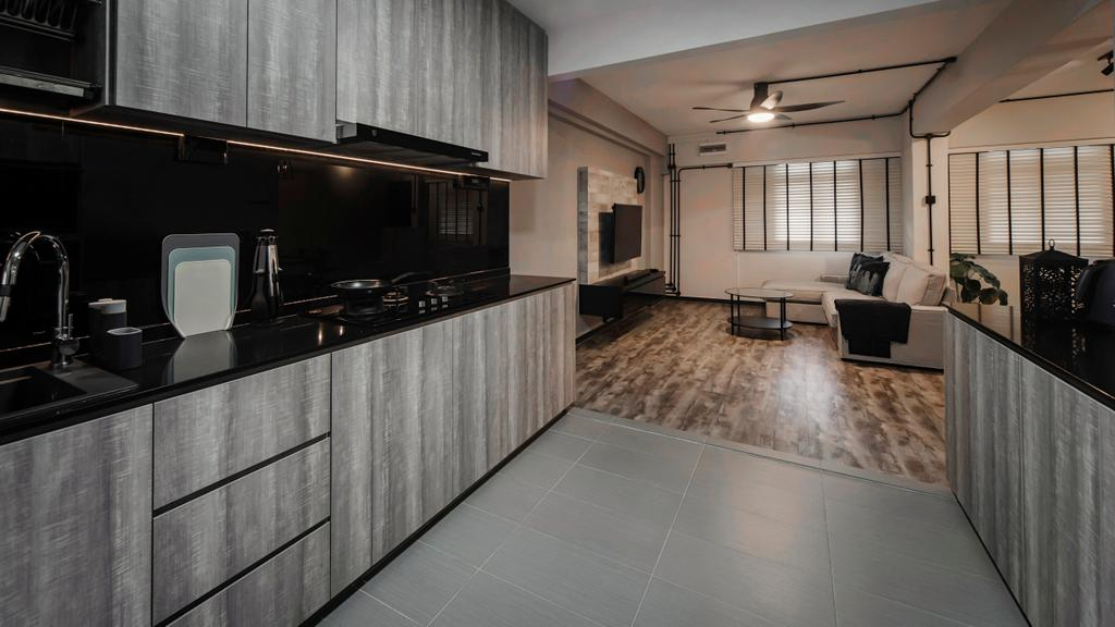 Minimalistic, HDB, Kitchen, Jalan Tenaga, Interior Designer, Cozy Ideas Interior Design, Flooring, Indoors, Interior Design, Room
