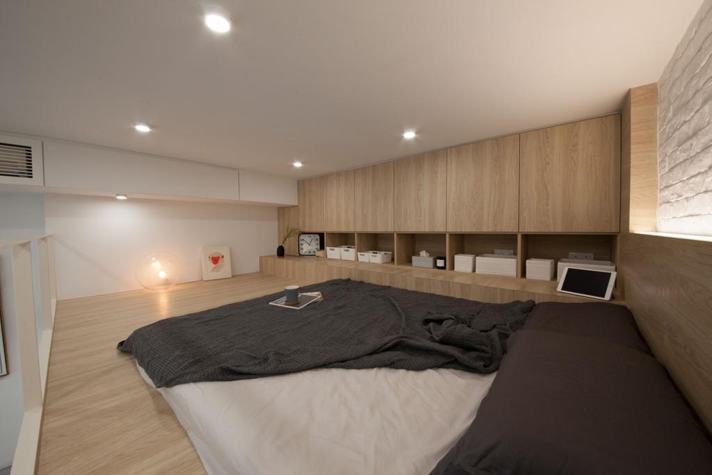簡約, 私家樓, 帝峰.皇殿, 室內設計師, monoo interior Limited, Bed, Furniture, Indoors, Room